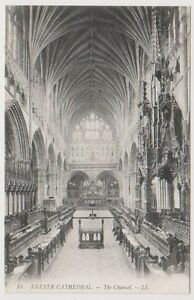 Devon postcard - Exeter Cathedral - The Chancel - LL No. 15 (A723)