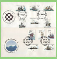 Australian Antarctic 1979-80 Ships definitives set on 3 First Day Covers, Davis