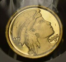 2008 Una 100 Ameros 1/10 oz Gold Proof Concept Coin Daniel Carr Prototype Coins