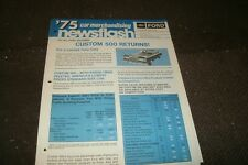 1975 FORD CUSTOM 500 DEALERSHIP SALESMANS MERCHANDISING NEWSFLASH BROCHURE SHEET
