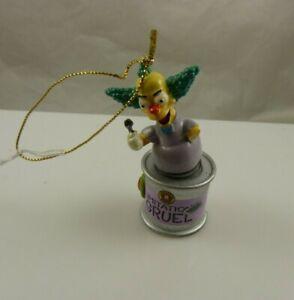 Simpsons Krusty the clown imitation Gruel Christmas ornament Kurt S. Adler xmas