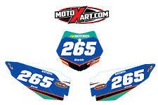 KTM 50 2009 - 2015 Custom Number Plate stickers STRIKE Style decals