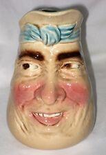Vintage Sarreguemines France Grotesque 3181 2 Magolica Pottery Toby Pitcher Jug