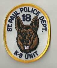 K-9  DHF MINNESOTA  St. Paul   Police Patch Polizei Abzeichen Dienst-Hundeführer