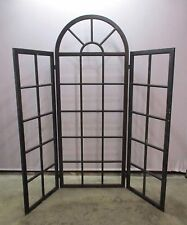 Vintage Architectural Wood Window Garden Room Divider / Screen / Store Display