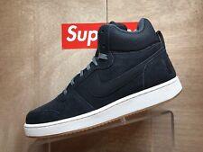Mens Nike Court Borough MID Prem Air Force Black Suede Size 10