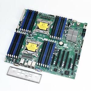 SUPERMICRO X9DRI-LN4F+ Dual Socket XEON LGA2011 EE-ATX Server Motherboard
