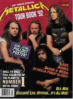 Metallica Tour Book 1992  James Hetfield, Lars Ulrich, Kirk Hammett S7