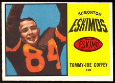 1964 TOPPS CFL FOOTBALL 21 TOMMY JOE COFFEY EX-NM EDMONTON ESKIMOS WEST TEXAS ST