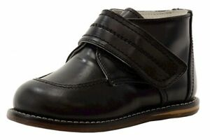 Josmo Toddler Boy's First Walker Black Fashion Oxford Shoes Sz: 7