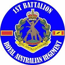 1ST BATTALION BN  ROYAL AUSTRALIAN REGIMENT UV LAMINATED VINYL STICKER 100MM DIA