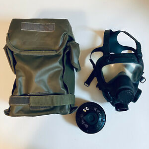 POLISH NATO MP5 NBC GAS MASK 40MM FILTER & ARMY STORAGE BAG INCLUDED!