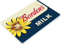 TIN SIGN Borden Milk Retro Sign Kitchen Farm Cottage Store A021