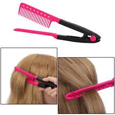 Mode Femme Pliable V Peigne Brosse Cheveux Lisseur Straightener Salon Coiffure