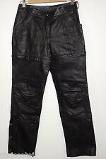 HARLEY DAVIDSON Black Leather Pants / Shorts Women's 32/4 29 x 32 97126-03VW