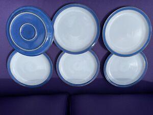 denby imperial blue dinner plates