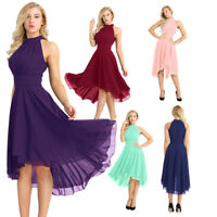 Women's Evening Party Long Chiffon A-line Cocktail Bridesmaid Dresses Prom Gowns