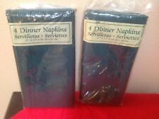 """NEW  HOLIDAY DINNER NAPKINS SET OF 8. GREEN POLYESTER 17"""" x 17"""""""