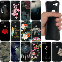 For Huawei Y5 Y6 Y7 Y9 2018 Shockproof Soft Silicone Black Painted TPU Cover
