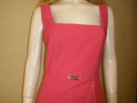 GORGEOUS NEW $920 ELISABETTA FRANCHI ITALY RED BODYCON STRETCH DRESS 42/6