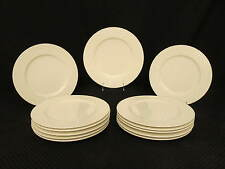 "13pc Vintage Pagnossin Ironstone PRESIDENT WHITE Wicker Rim 11"" Dinner Plates"