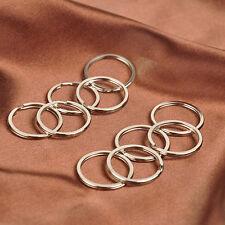 10X25mm Stainless Steel Alloy Hoop Split Key Ring Chain Loop Keyrings Connectors