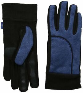 Isotoner Women's Active SmarTouch Blue Spark Heathered Softshell Glove w/Fleece