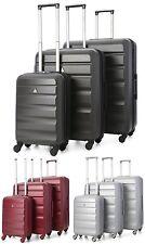 Aerolite Lightweight ABS Hard Shell 4 Wheel Spinner Suitcase 3-Piece Luggage Set