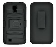 BLACK HARD CASE + BELT CLIP HOLSTER WITH STAND FOR SAMSUNG GALAXY MEGA 6.3 i9200