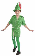 Peter Pan Child Costume Halloween School Play Kids Size Medium 8-10