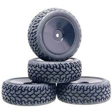 Rubber Tires 9074-8019 Wheels Fit RC HSP HPI 1:10 On-Road Refit 1:16 Rally Car