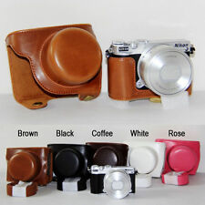 Leather Camera case bag Cover For NIKON J5 VR 10-30 PD-ZOOM Lens