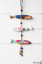 Fatto a mano in tessuto pesce mobile Decorazione Perline Vintage Chic da appendere addobbo Bell