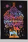 Indian Tapestry Wall Hanging Cotton Multi Tye Dye Mandala Hippie Gypsy Art Decor