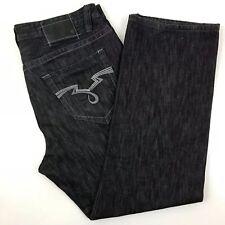 "ECKO Unltd 1972 Raw & Uncut Mens Size 40 Jeans Distressed Black Baggy 40"" x 32"""