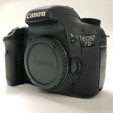Canon EOS 7D 18.0MP Digital SLR Camera Black Body Only w/ Strap Battery Charger