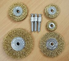 5PC Wire Wheel Brush Rust Removal BBQ Clean Drill Attachments