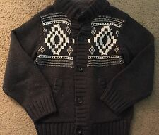 NWOT GYMBOREE HOLIDAY SWEATER  CARDIGAN SZ S 5-6  GREY & WHITE BUTTON FRONT