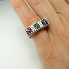 Ring Emerald White Gold Vintage & Antique Jewellery