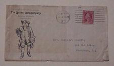 US  SCHERMACK TyIII PERF 1912 #375 THE QUAKER OAT GUY AD CHICAGO