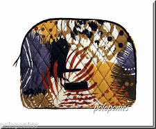 VERA BRADLEY Large Zip Cosmetic - Painted Feathers Pattern NWT