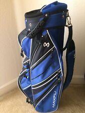 Maxfli Blue/Black/White 13 Way Divider Lightweight Golf Cart Bag + Rain Cover