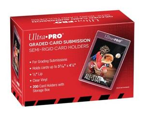 25 NEW ULTRA-PRO GRADED CARD SUBMISSION SEMI-RIGID HOLDERS PSA BGS Free Shipping