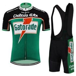 Retro GATORADE Cycling Jersey And Bib shorts sets Cycling Short Sleeve Jersey