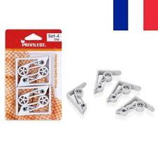 4 X Pinces à Nappe Blanches 6,5 cm Pince Table Accroche Clip