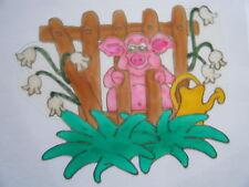 SALE PIG FARM ANIMAL WINDOW PICTURE DECORATION STICKER DECAL