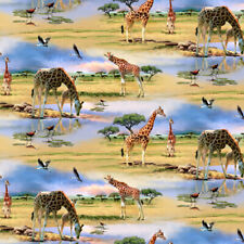 Colorful Blue Giraffes Pattern Premium Roll Gift Wrap Wrapping Paper