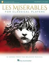 Les MisÉRables For Classical Players Trumpet And Piano Music Book/Access New