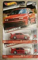 Hot Wheels 2020 Modern Classics Volkswagen Jetta MK3 VW Car Culture (LOT OF 2)