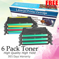 Set of 6 PK CLP-660 Black Color Toner for Samsung CLP660 CLP610 CLX6200 CLX6210